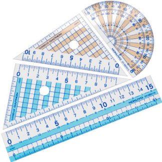 Geometry Ruler Sets